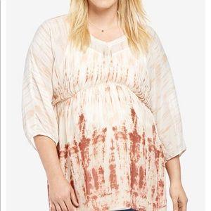 Motherhood Maternity sheer and lined tunic size 1X